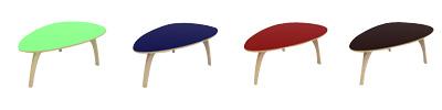 Tables basses colorées Essentia Mobilia