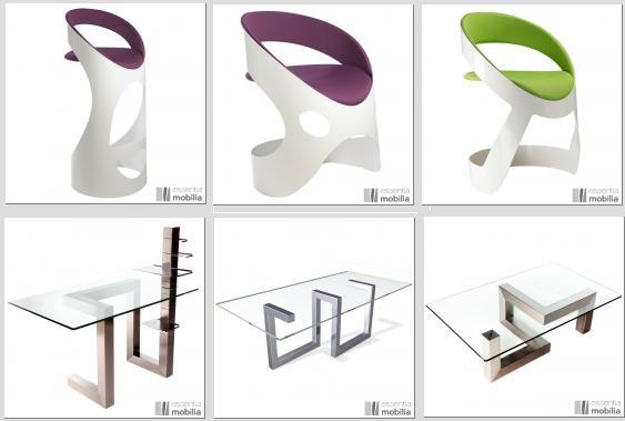chaises et tables en metal sur mesure