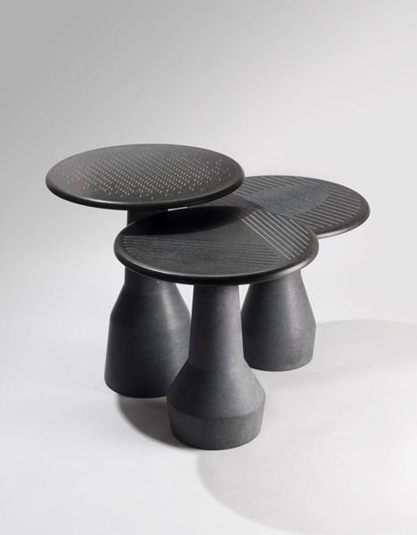 Gueridon-taille-douce-Thibaud Klepper-Galerie-Gosserez