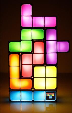 tetris light - luminaire en hommage à Tetris