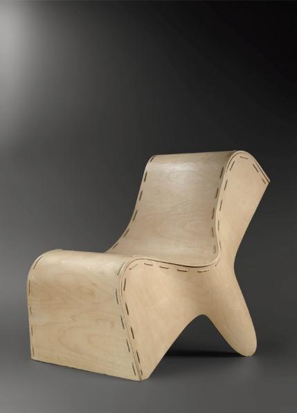 Musee Dapper-Design en Afrique-Balthazard Faye-Siège empilable accolade-contreplaque moule a froid et cordes