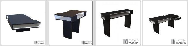 mobilier deco design noir et blanc N&B