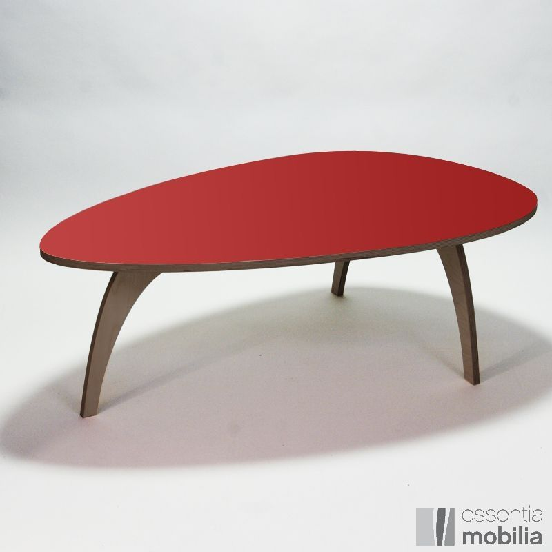 Le retour du rouge dans la d co s lection de mobilier rouge le blog d 39 - Table basse design 3 pieds ...