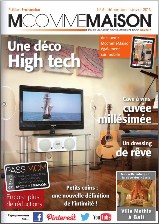 Le webzine gratuit de d coration m comme maison est paru for Magazine de decoration interieure gratuit