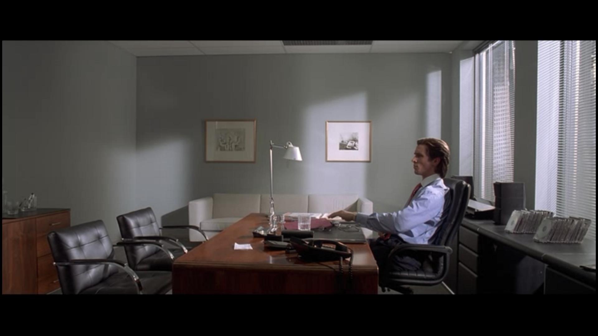 american-psycho-brno flat chair-ludwig van der rohe