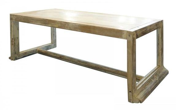 extramuros - banc en bois réalisé à partir de cadres de fenêtres