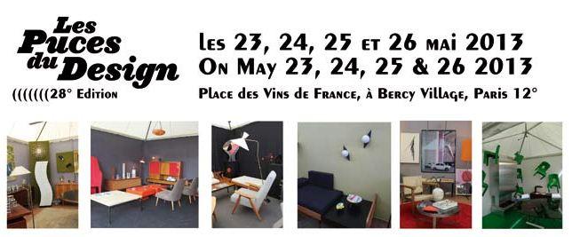 Les Puces du Design - 28ème édition à Paris - 23 au 26 mai 2013 - meubles vintage